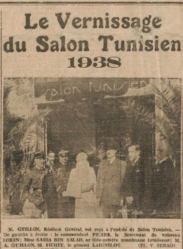 Le Vernissage du Salon Tunisien 1938 - Photo de Victor Sebag (Le Petit Matin, 1er Avril 1938)
